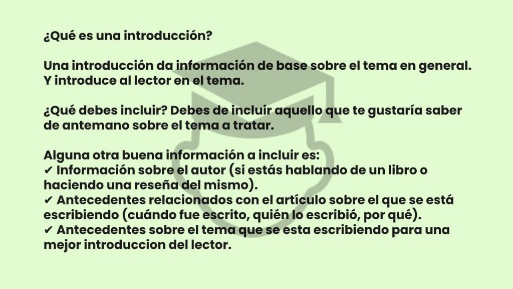 que es una introduccion